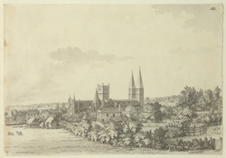 Southwell Minster, north-east view f.182